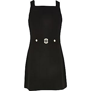 Robe chasuble noire pour fille