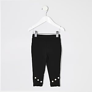 Legging noir à volants mini fille
