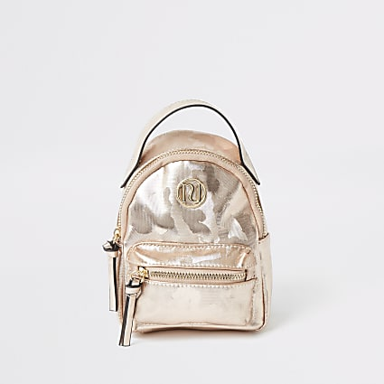 Girls pink camo backpack
