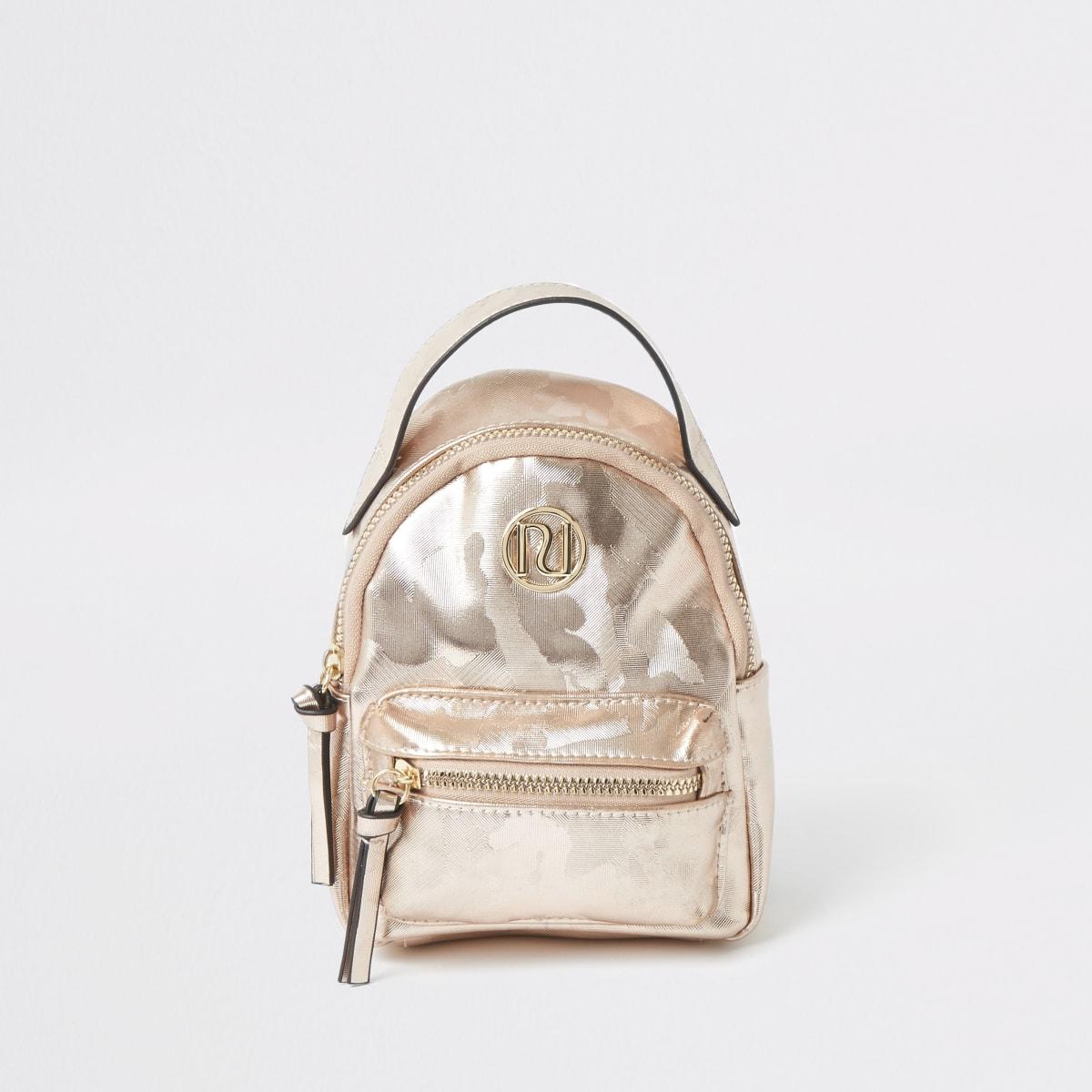 Girls pink camo backpack