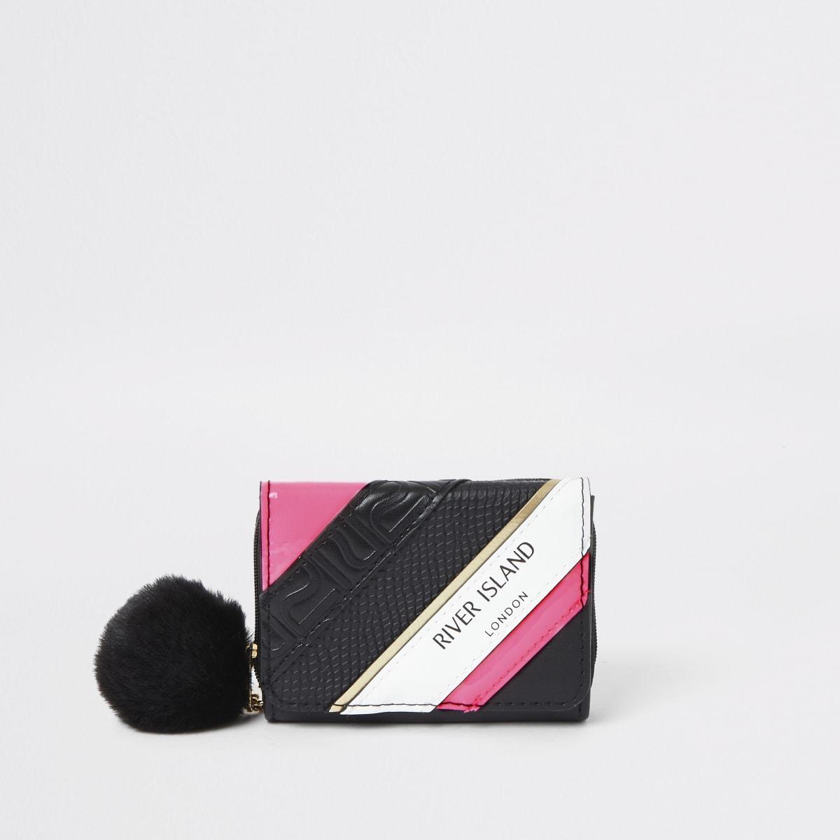 Zwarte portemonnee met RI-logo voor meisjes