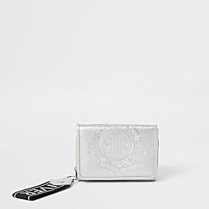 Kleine zilverkleurige RI-vouwportemonnee voor meisjes