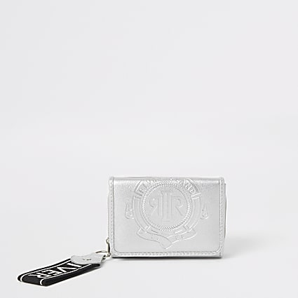 Girls silver RI small trifold purse
