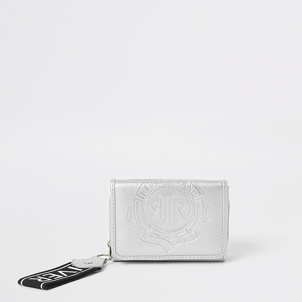 Girls silver RI small trifold purse