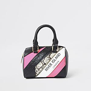 Schwarze Tasche mit Print