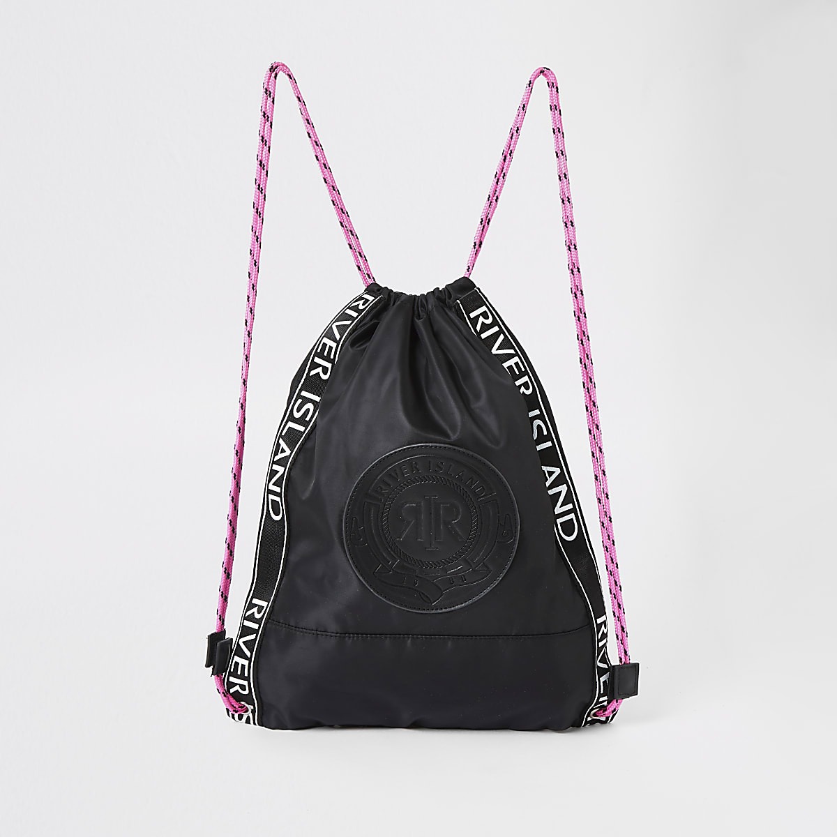 Girls black RI drawstring bag