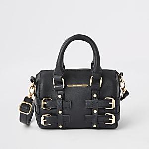 Schwarze Tasche mit Schnalle