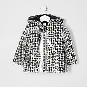 Mini - Regenjas met pied-de-poule-print voor meisjes
