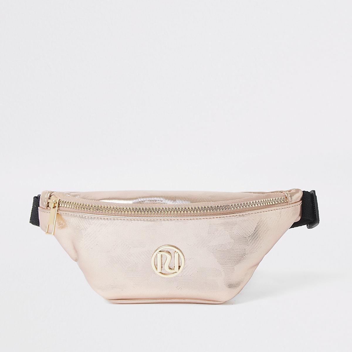 Girls rose gold bum bag