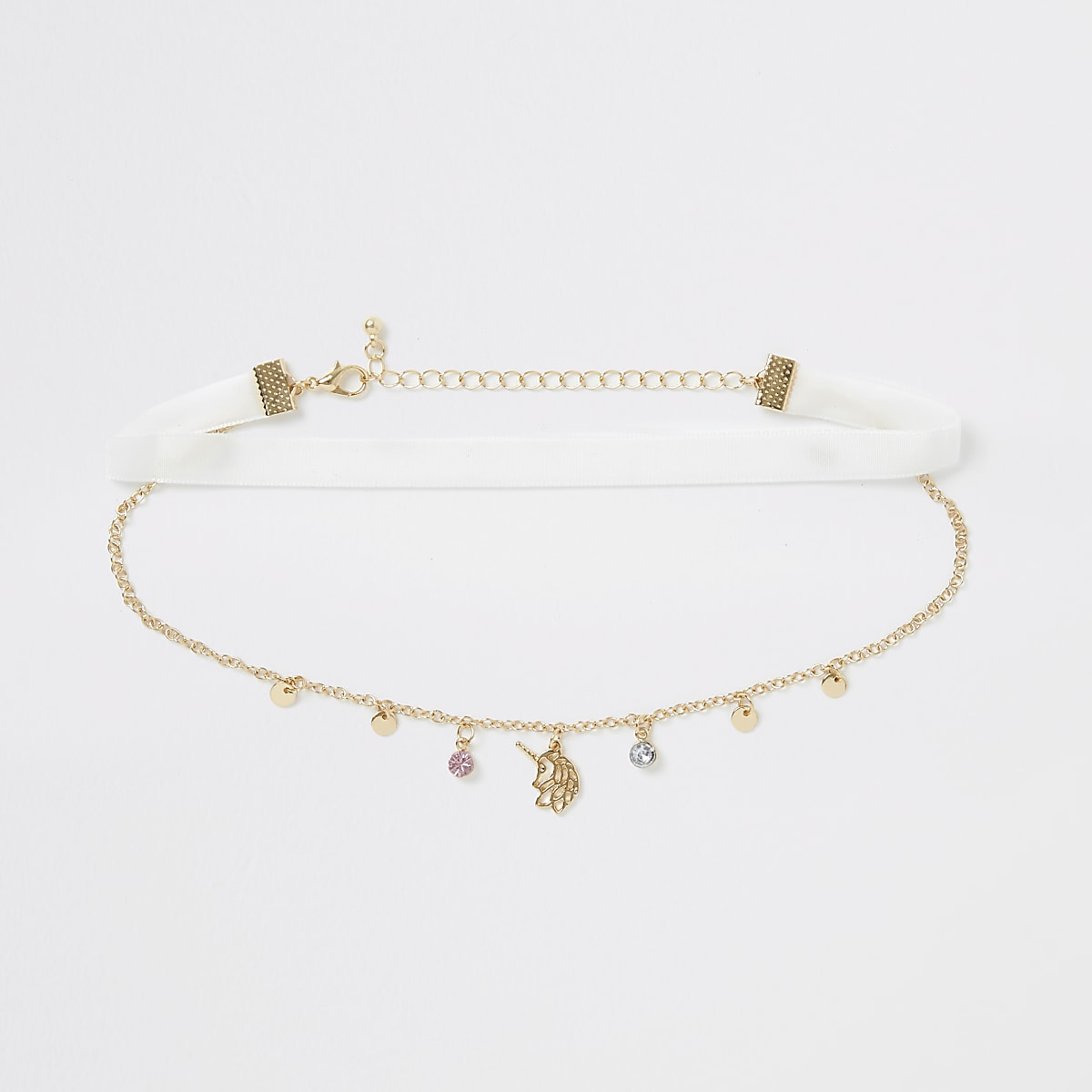 Girls gold colour unicorn choker