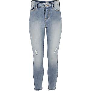 Amelie – Hellblaue Skinny Jeans mit Waschung