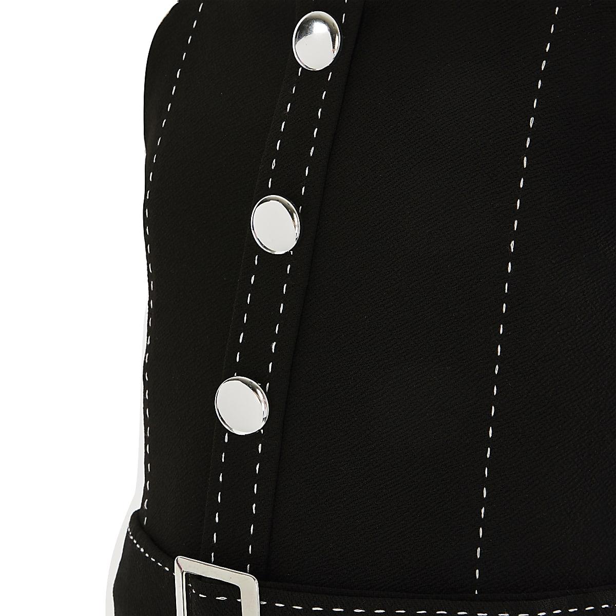 c7d1cb6276 Girls black belted jumpsuit - Jumpsuits - Playsuits   Jumpsuits - girls