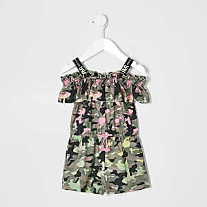 Playsuit mit Camouflage-Muster