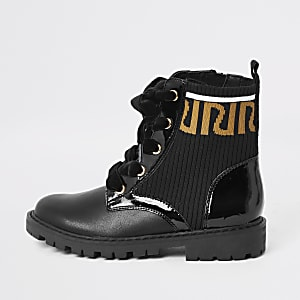 Bottines noires imprimé RI fille