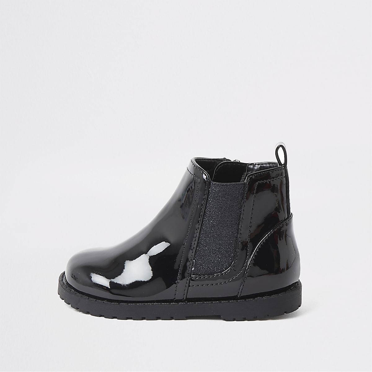 sélection premium 50-70% de réduction recherche d'authentique Mini girls black glitter patent boots