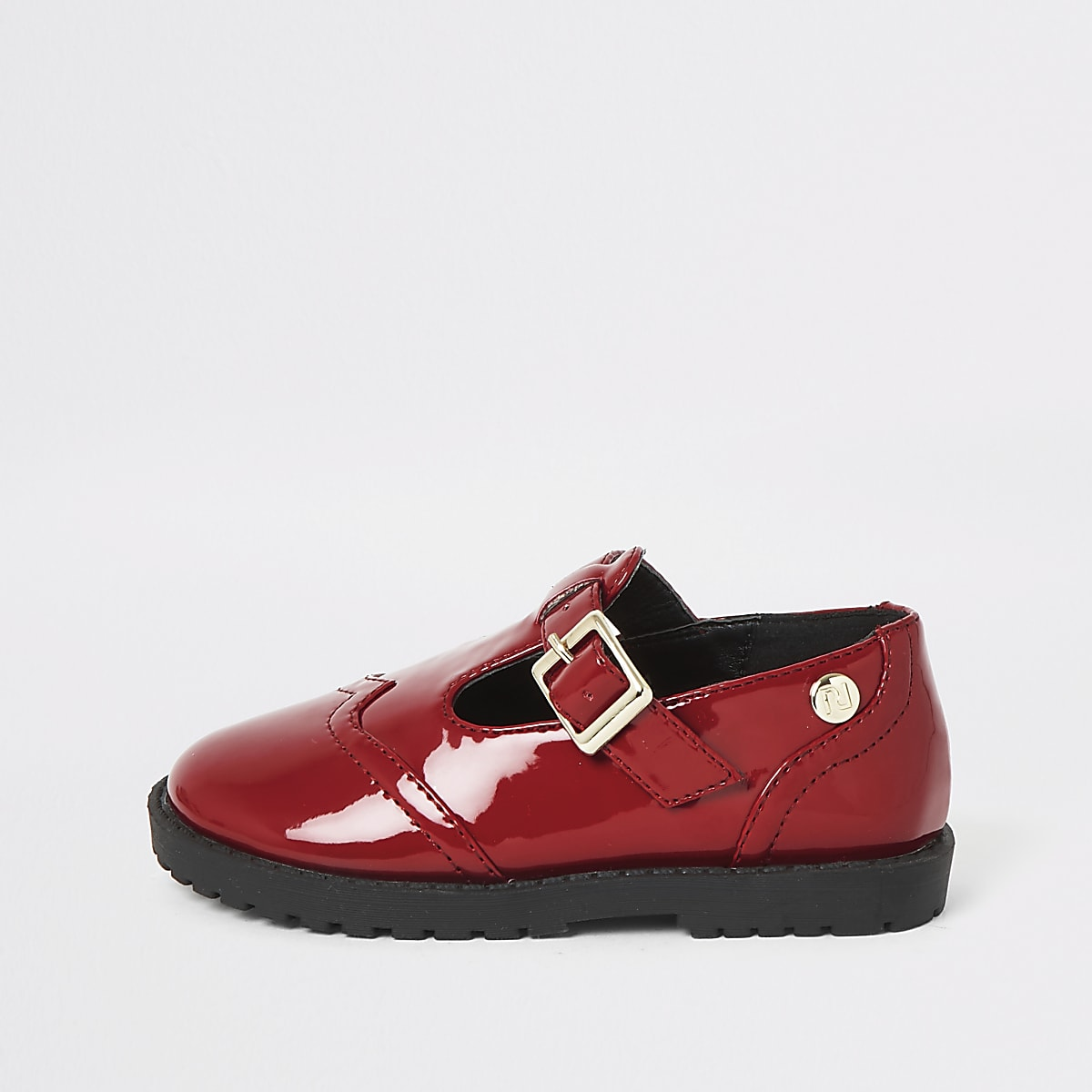 Mini girls red patent shoes