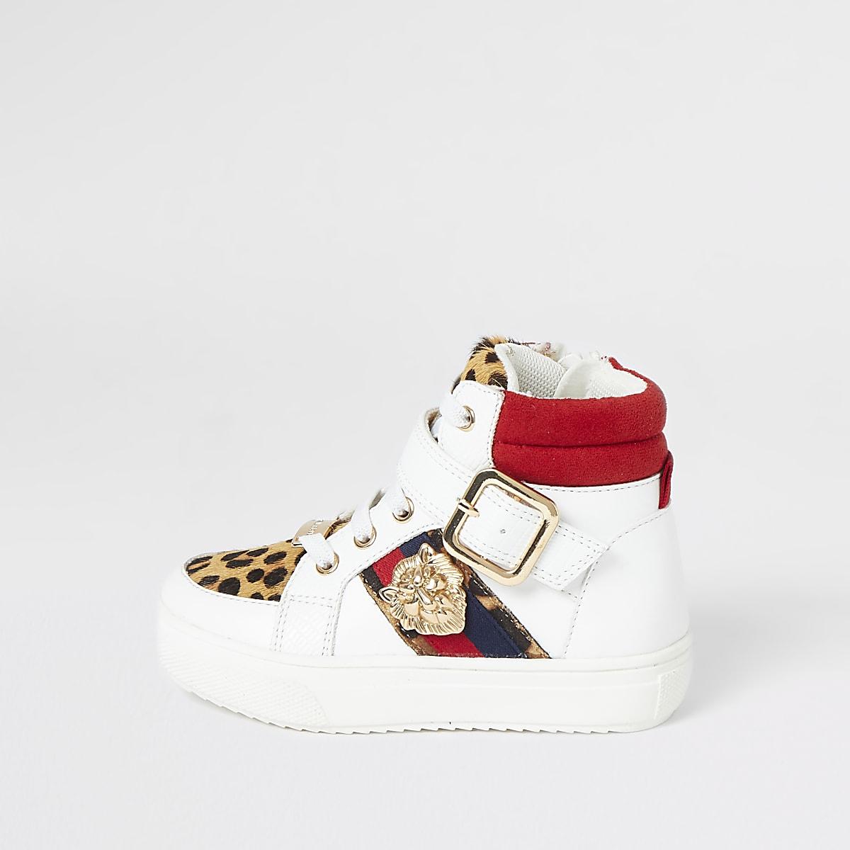 Hoge sneakers met luipaardprint voor mini girls