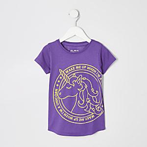 Nachthemd mit Mini-Einhorndesign in Lila