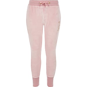 Juicy Couture – Hellrosa Jogginghose aus Velours