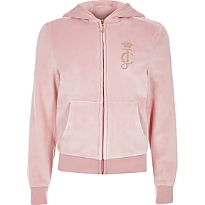 bcefdc1b6e68 Girls Juicy Couture light pink tracksuit
