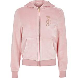 Juicy Couture - Lichtroze trainingsjack voor meisjes