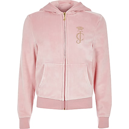 Girls Juicy Couture light pink tracksuit