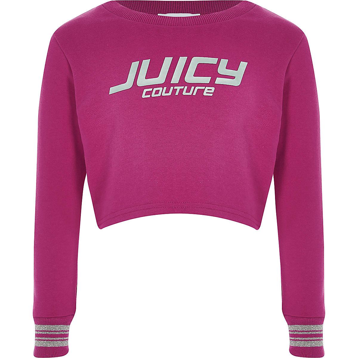 Juicy Couture - Roze crop sweatshirt voor meisjes