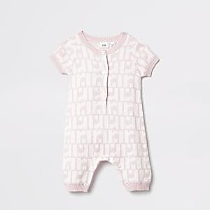 Baby pink RI romper