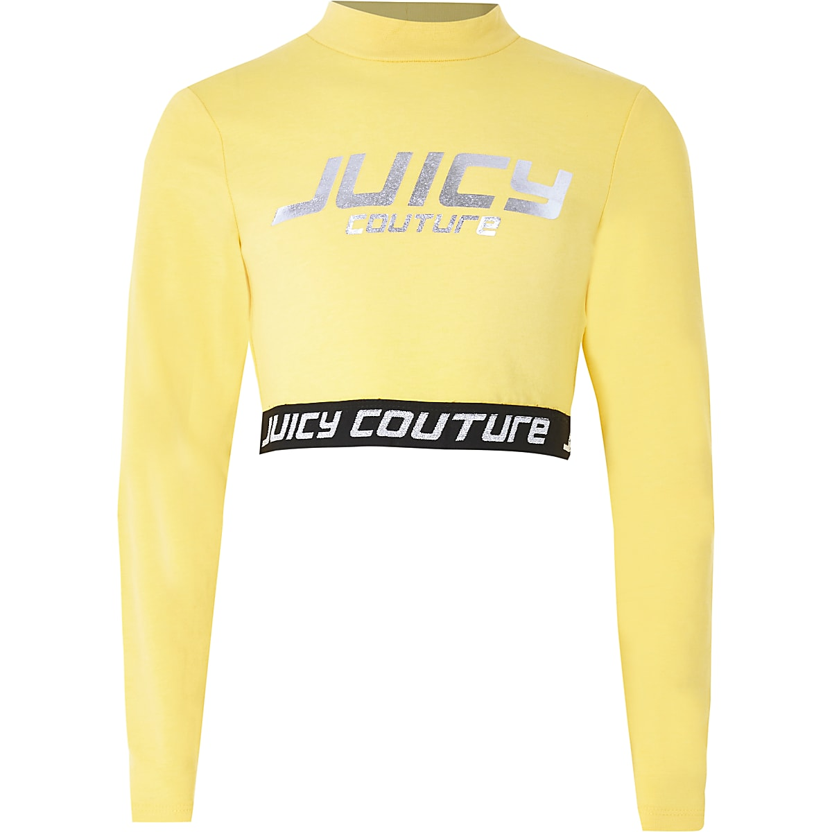 Girls Juicy Couture yellow cropped top