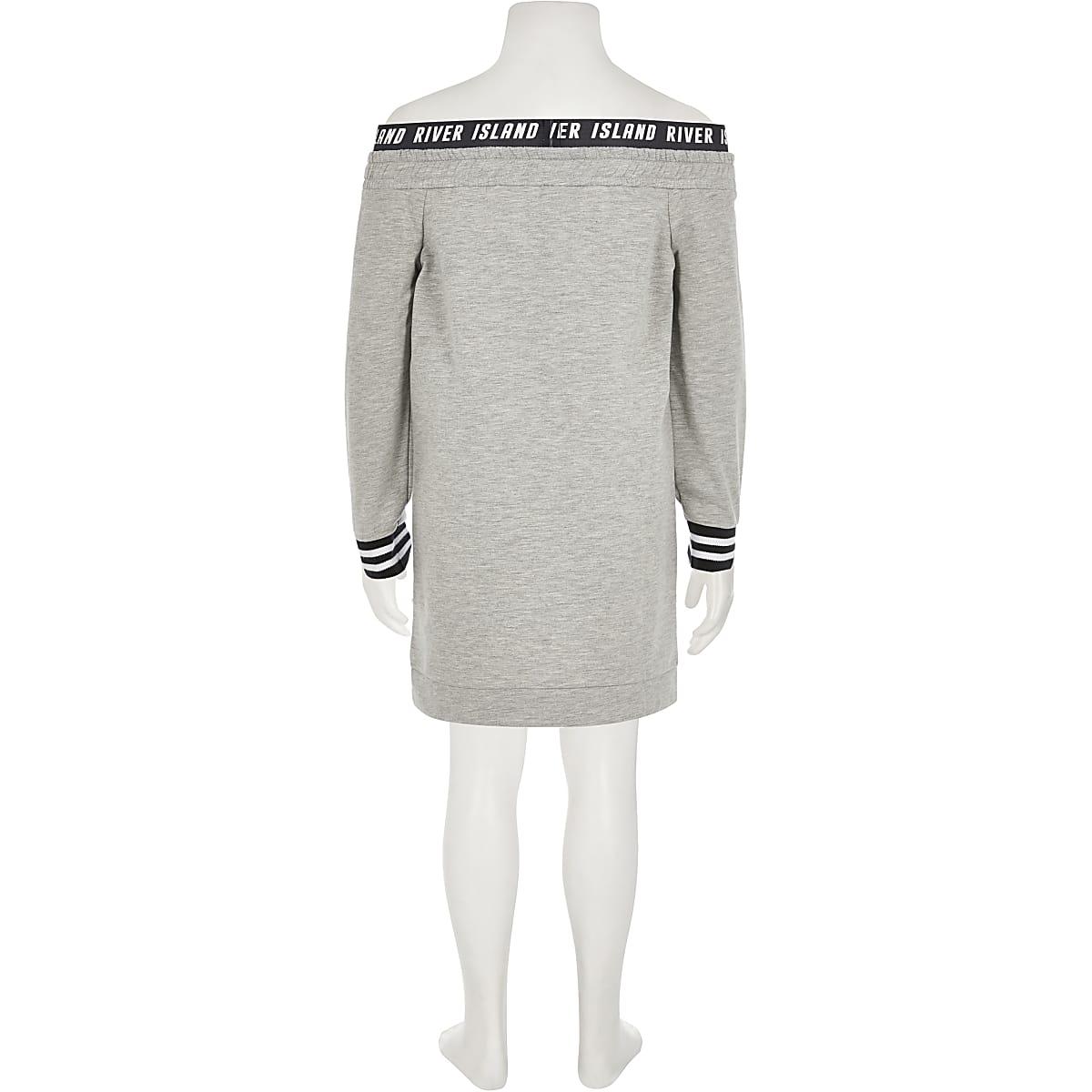 long grey sweatshirt dress