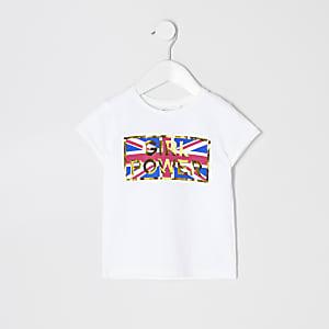 Mini - T-shirt met 'Girl Power'-print voor meisjes