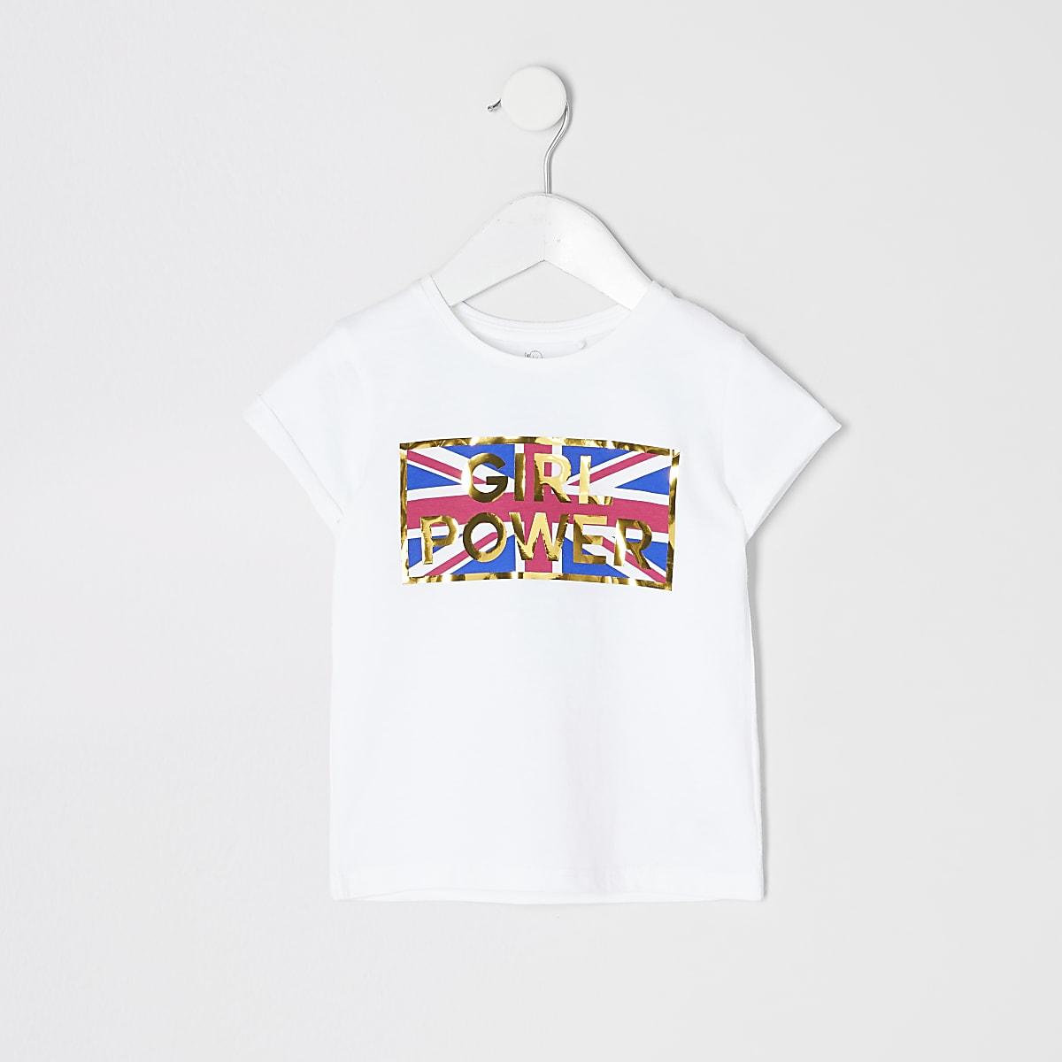 Mini Girls Girl Power T Shirt Baby Girls Tops Mini Girls Girls