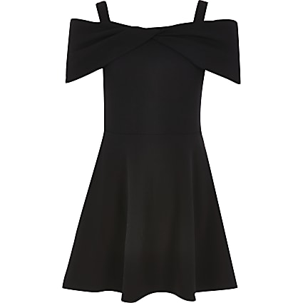 Girls bardot skater dress