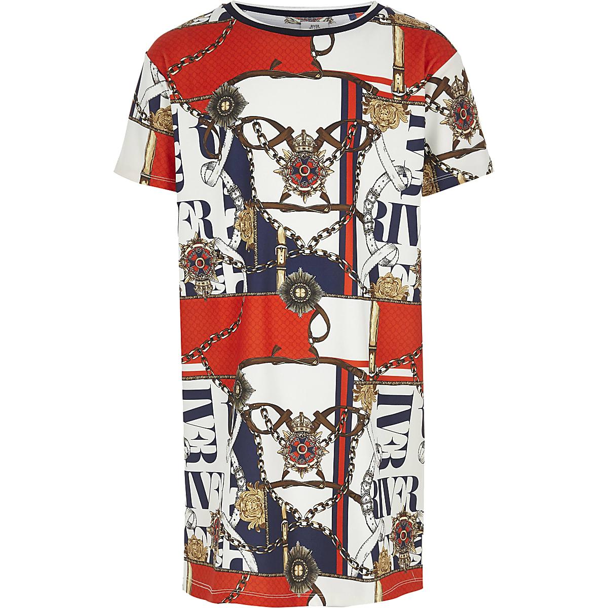 f1ccfd4de0 Girls white printed T-shirt dress - Day Dresses - Dresses - girls