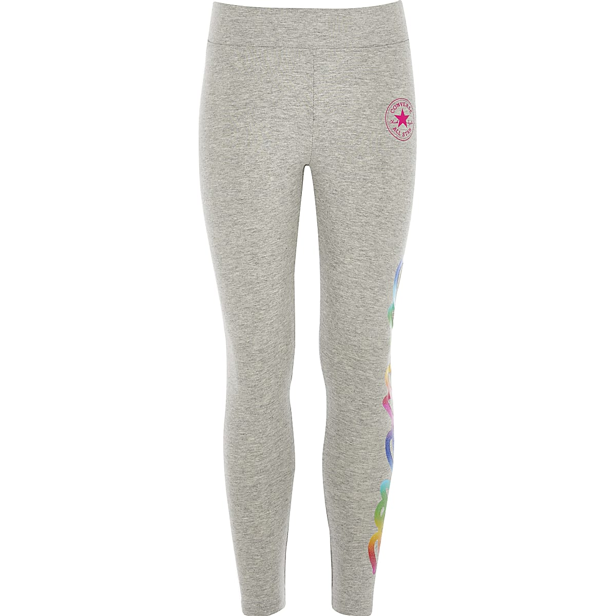 Girls grey Converse logo leggings