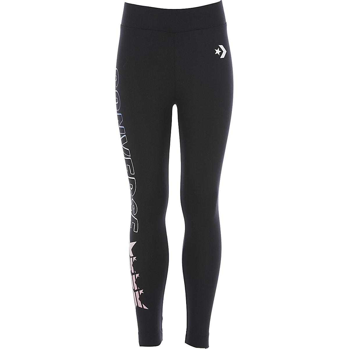 Girls Converse black leggings