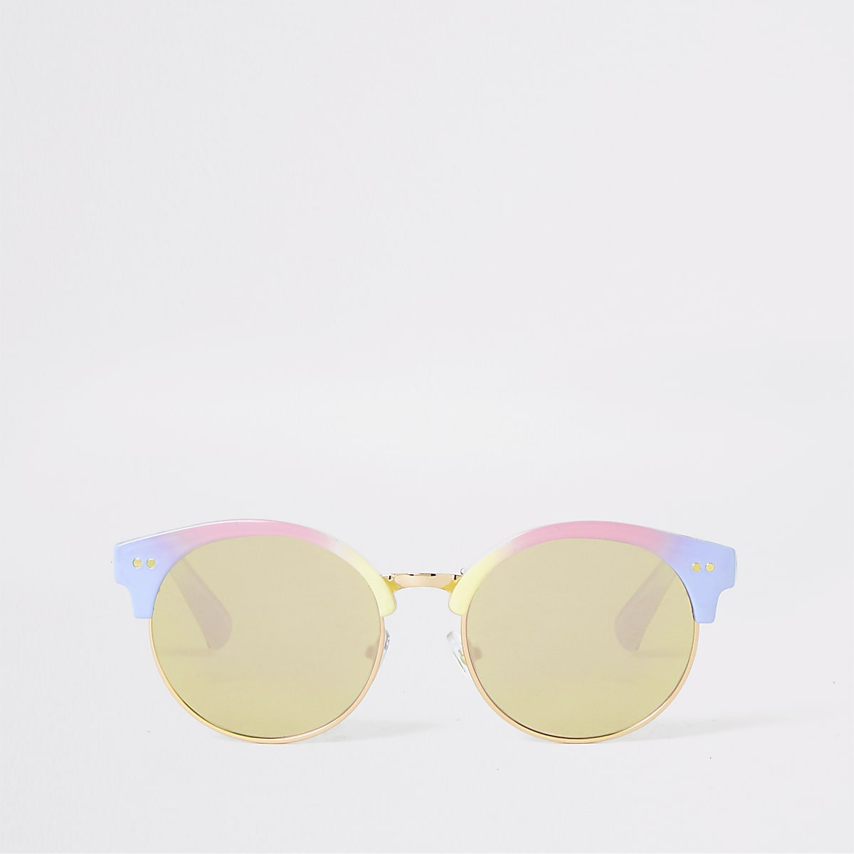 Girls pink rainbow mirror lens sunglasses