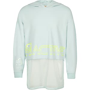 Girls RI Active blue mesh hoodie