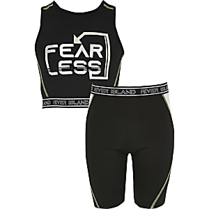 cc1f9d6bc2370 Girls RI Active black crop top outfit