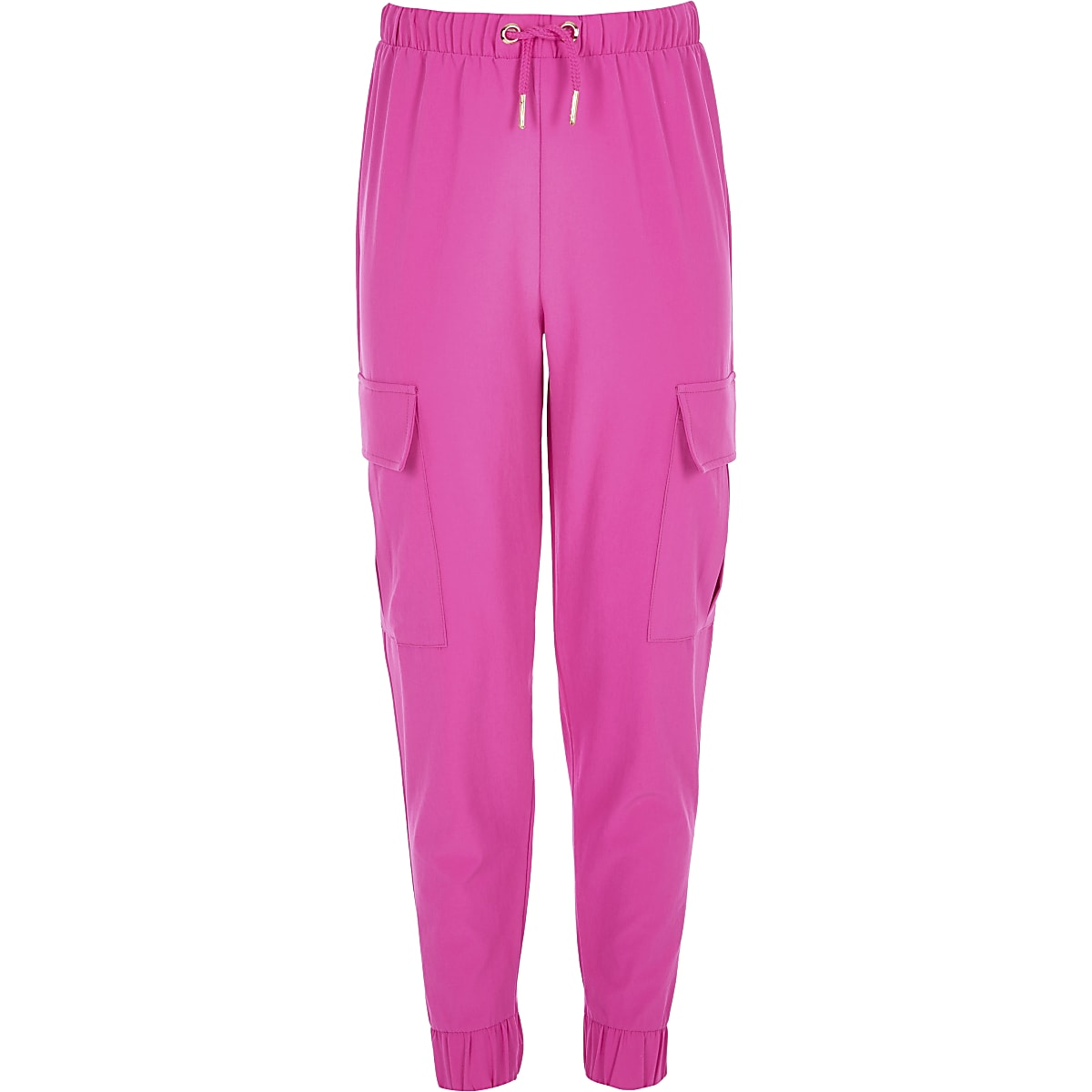 Girls pink cargo trousers