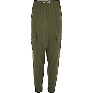 Pantalon cargo kaki pour fille