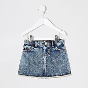 Mini-jupe en denim bleu moyen mini fille