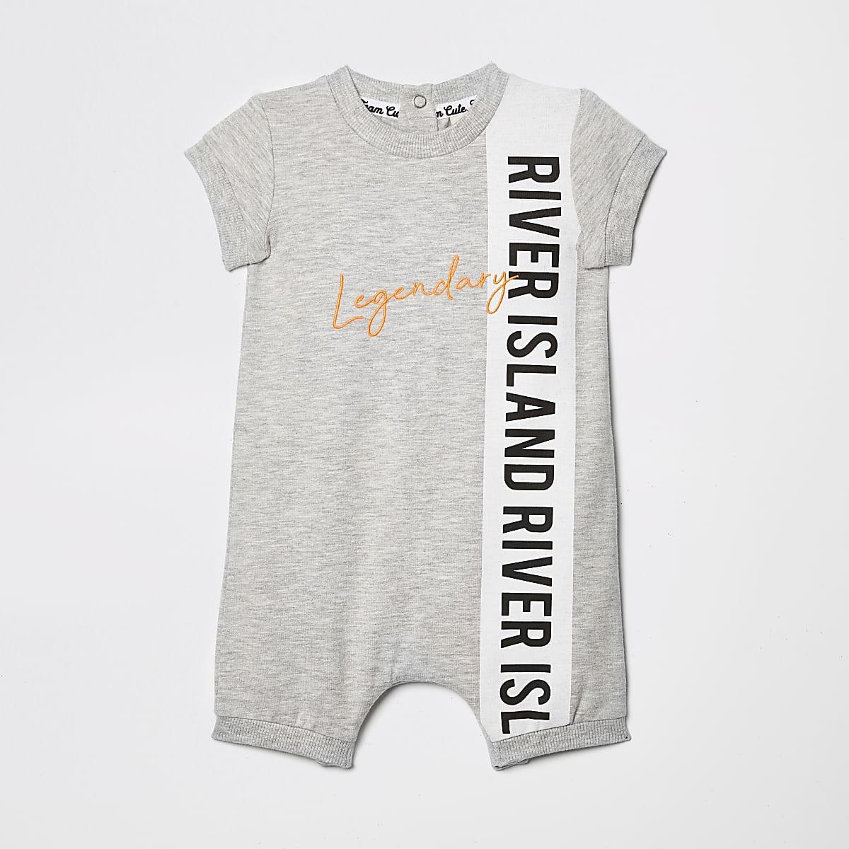 Baby grey RI romper