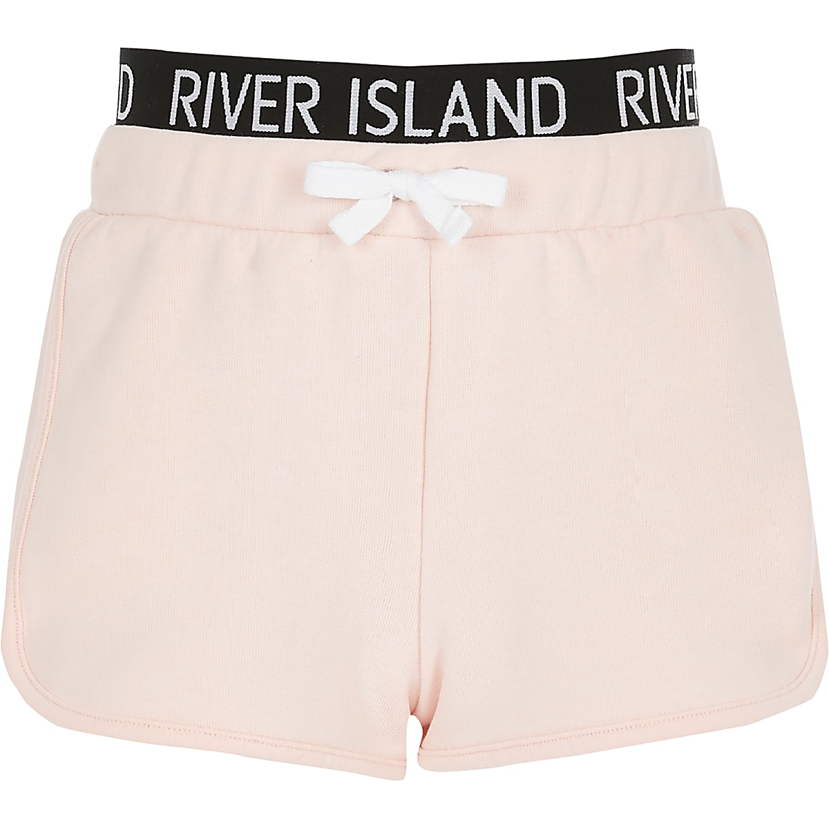 Girls pink RI waistband runner shorts