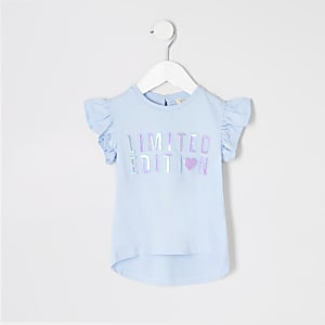 Mini girls blue 'Limited edition' T-shirt