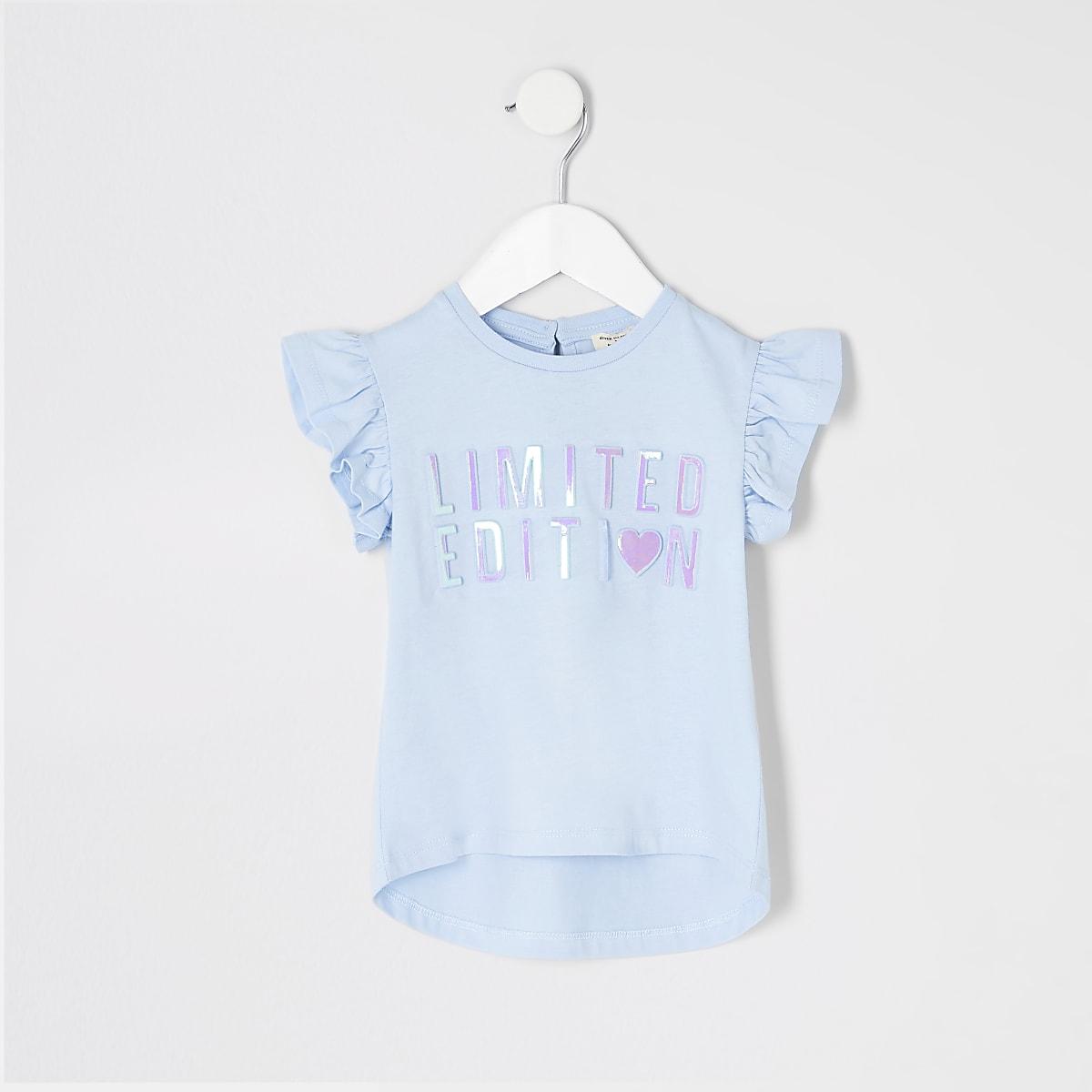 Mini girls blue 'Limited edition' T-shirt