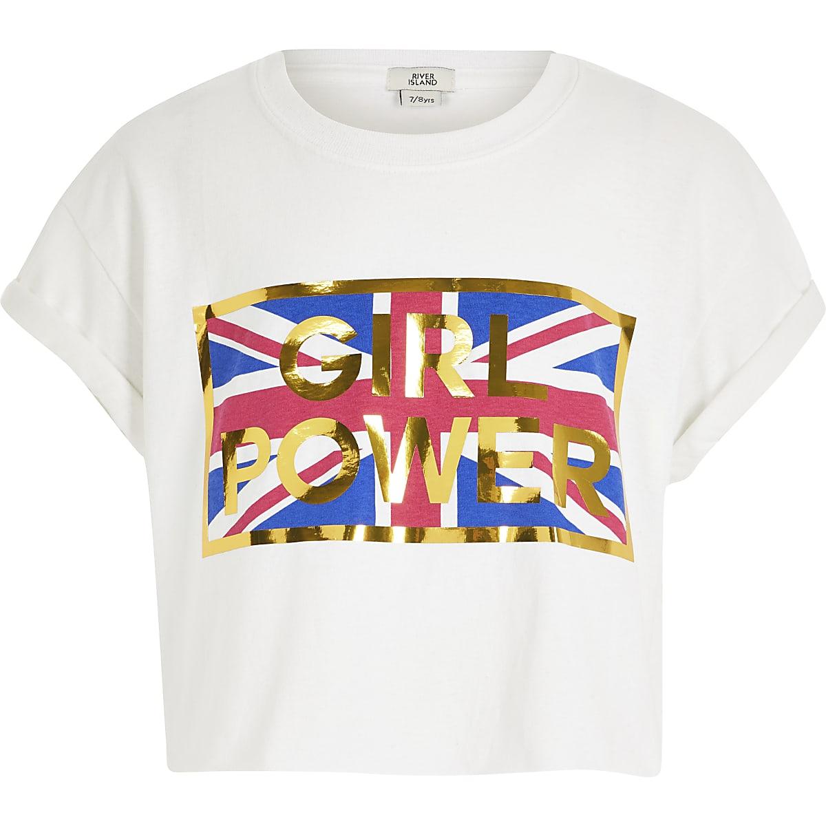Girls power crop T-shirt