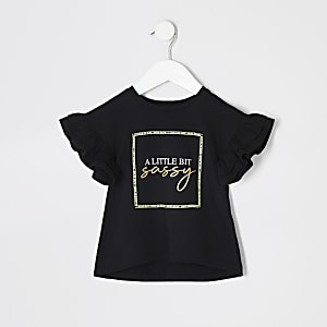 Mini girls 'a little bit sassy' T-shirt