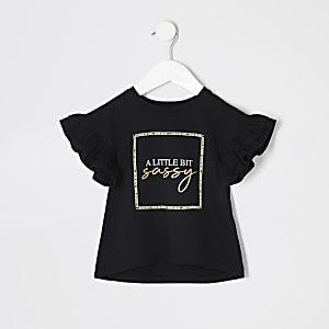 T-shirt «a little bit sassy» mini fille