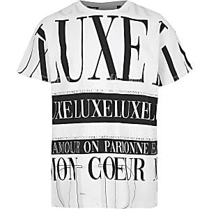 Weißes Oversized-T-Shirt mit Print
